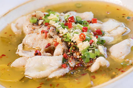 Boiled Fish with Pickled Cabbage & Sichuan Chili