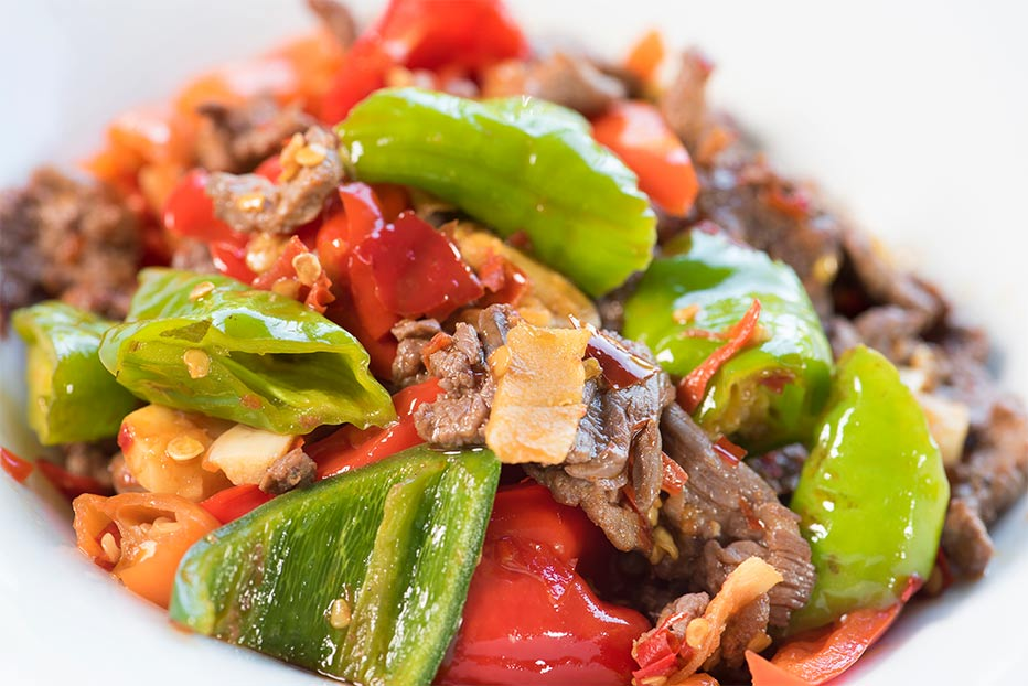 Stir-fried Beef with Sichuan Pickled Chili